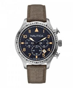Nautica Heren Horloge BFD 105 Chrono 44 mm Groen Oud Model SALE