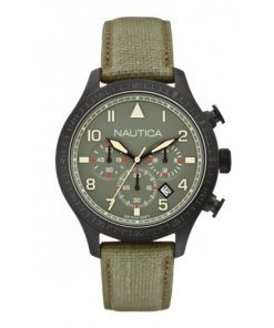 Nautica Heren Horloge BFD 105 Chrono 50 mm Groen Oud Model SALE