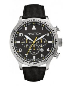 Nautica Heren Horloge BFD 105 Chrono 50 mm Zwart Oud Model SALE
