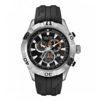Nautica Heren Horloge NST 550 Chrono 47 mm Zwart Oud Model SALE