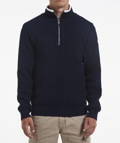 Holebrook Heren Trui Windproof Zipper Navy2