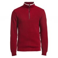 Holebrook Heren Trui Windproof Zipper Rood