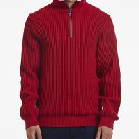Holebrook Heren Trui Windproof Zipper Rood2