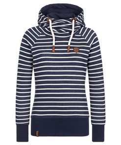Naketano Dames Hoodie Trui Was Machen Ficken Stripe Hype
