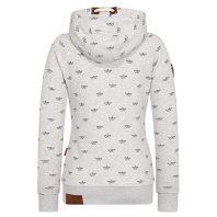 Naketano Dames Hoodie Vest Because I Got High Stone Grey Melange 1