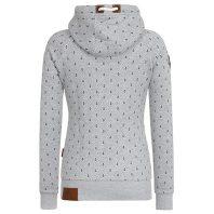 Naketano Dames Hoodie Vest Brazzo Ankerdizzel Grey Melange 1