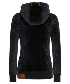 Naketano Dames Hoodie Vest Brazzo Mack Black 1