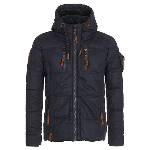 Winterjas Heren Xxl.Naketano Heren Winterjas Italo Pop Dark Blue Gratis Levering