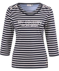HV Polo Dames T-shirt Mildrit navy-wit 2
