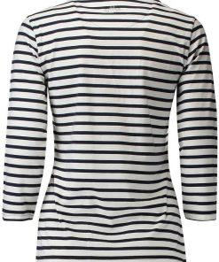 HV Polo Dames T-shirt Mildrit wit-navy 2