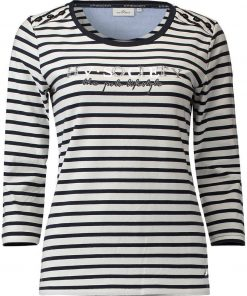 HV Polo Dames T-shirt Mildrit wit-navy